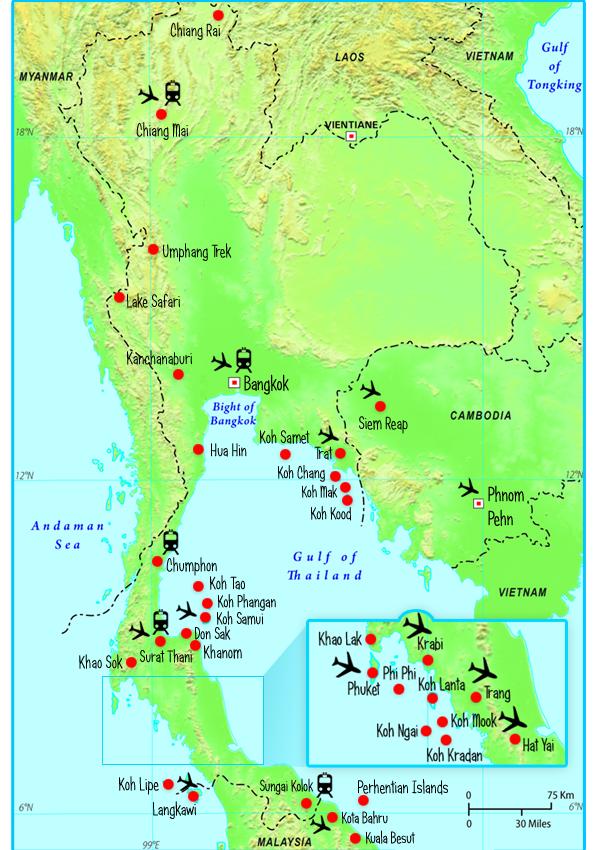 Kort Over Thailandske øEr | Kort 2019